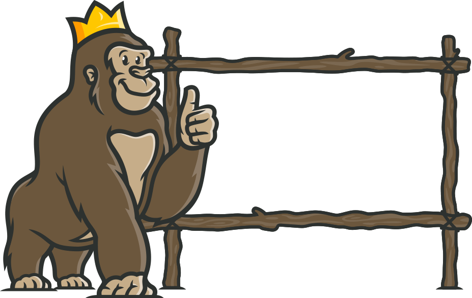 Casino Gorilla canvas
