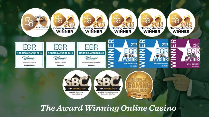 Mr Green Award Winning Casino